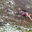 Christophe Kaas a  chuté mais heureusement  sans gravité / Athlétisme,  Cross - Country International du CAEG  / Cross-Challenge Peters-Sports 4 /  Saison 2018-2019 / 16.12.2018 /  Dreiborn, près de l'école BILLEK , Luxembourg / Photo : Michel Dell'Aiera