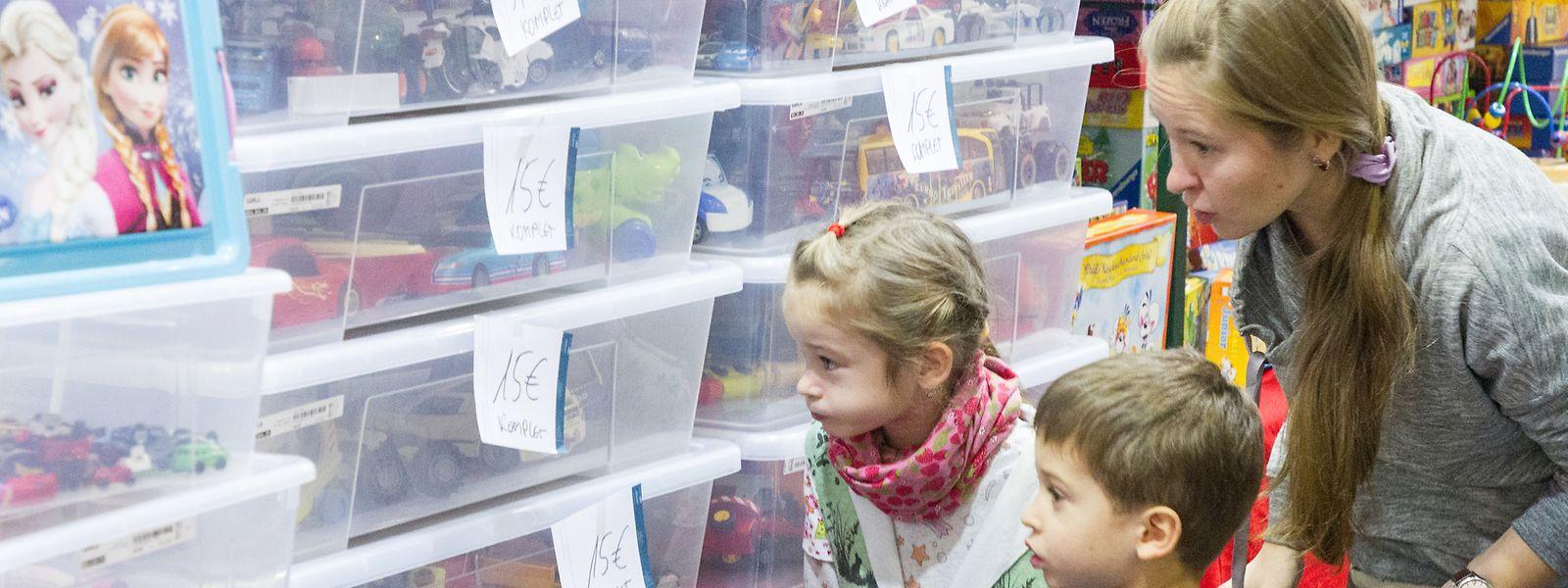Spielwaren, Kleidung und mehr: Auch für die kleinen Besucher wurde allerhand geboten.