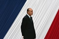 (FILES) In this file photo taken on May 10, 2006 French President Jacques Chirac attends a ceremony commemorating, for the first time in France, the abolition of slavery more than 150 years ago, which marked the formal end of a practice it has since branded a crime against humanity, in the Luxembourg Gardens in the centre of Paris. - Former French President Jacques Chirac has died at the age of 86, it was announced on September 26, 2019. (Photo by PATRICK KOVARIK / AFP)