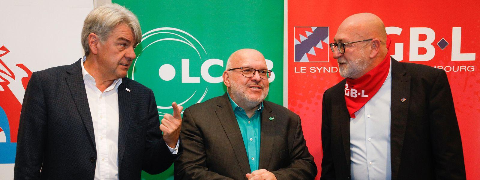 Les présidents de la CGFP, du LCGB et de l'OGBL ne pouvaient rêver plus forte mobilisation.