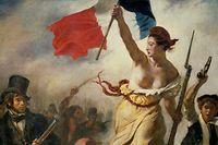 """Das Original von Delacroix' Gemälde """"La liberté guidant le peuple"""" hängt im Louvre - für Facebook zunächst kein Argument."""