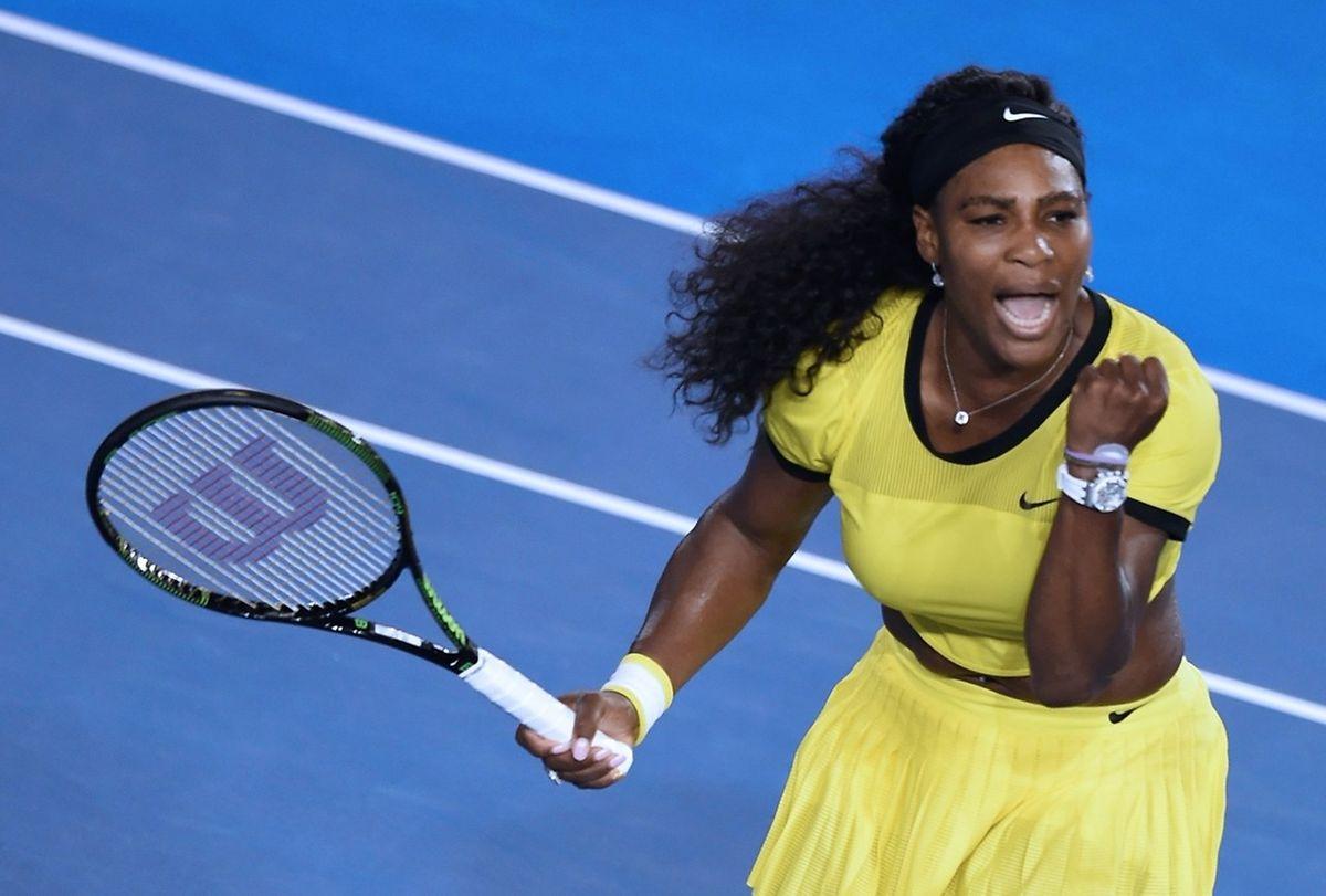 Serena Williams freute sich ebenfalls ausgelassen.