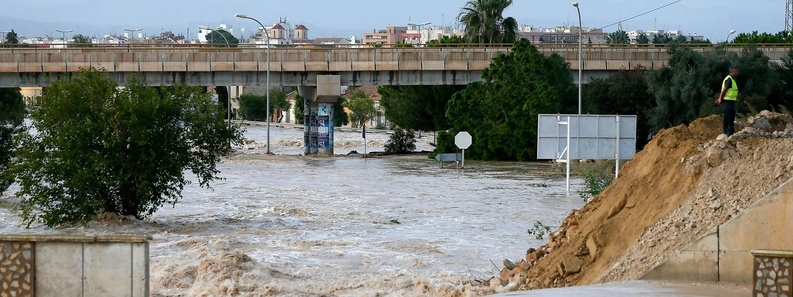 Der Fluss Segura in Almoradi am 14. September.