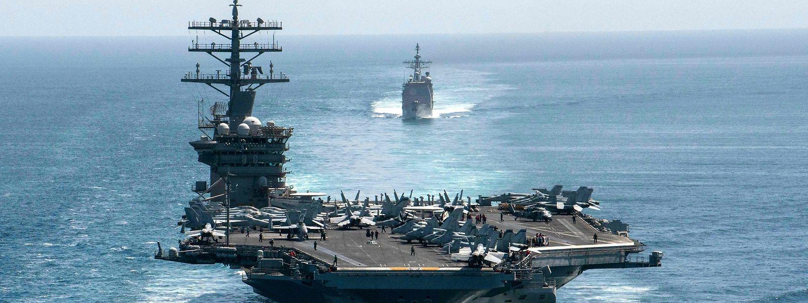 Der Abzug des Flugzeugträgers U.S.S Nimitz aus dem Persischen Golf ist ein Zeichen der Entspannung.