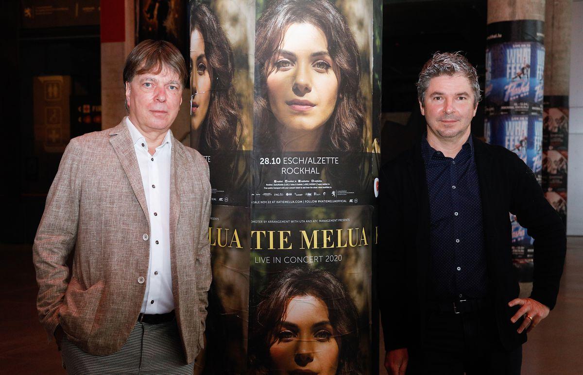 Olivier Toth (à droite) et Luc Henzig (à gauche) espèrent pouvoir organiser des concerts en décembre, mais restent prudents quant à cette éventualité.