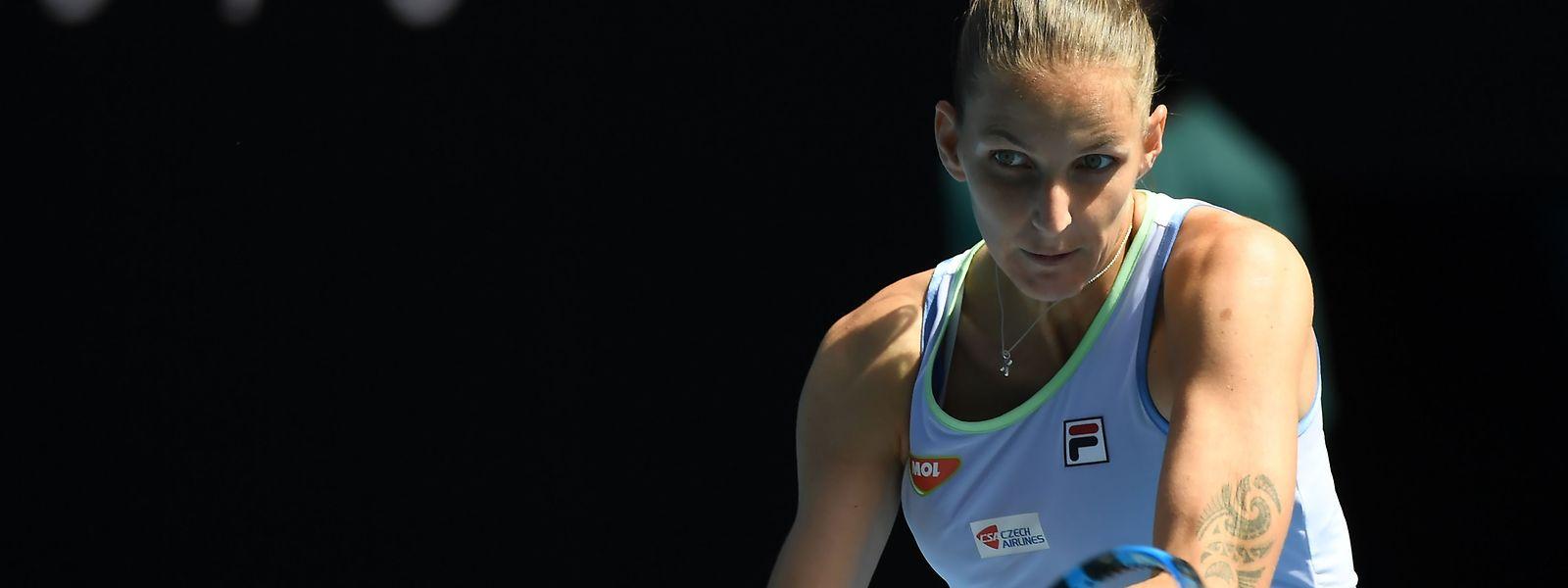 La n°2 mondiale, Karolina Pliskova n'a laissé aucune chance à la Française Kristina Mladenovic