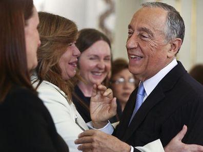 Presidente da República, Marcelo Rebelo de Sousa, recebe um grupo de Embaixadoras e Deputadas membros da Comissão dos Negócios Estrangeiros, 15 março 2016, no Palácio de Belem, em Lisboa.  ANDRÉ KOSTERS / LUSA