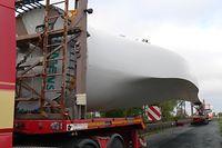 Rotor Rotorblatt Schwertransport Windkraftanlage Windpark Weiler