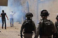 Tränengas in der Altstadt von Jerusalem.