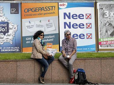 15.5. LuxVille / Plakate Referendum Foto: Guy Jallay