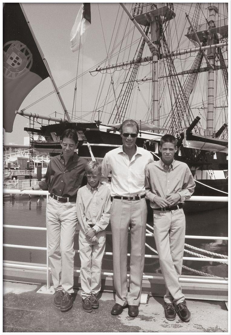 Grão-Duque Henri com os filhos na Expo 98, em Lisboa