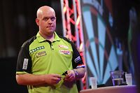 Michael van Gerwen / Darts, PDC Europe European Darts Tour 2018 / 14.04.2018 / German Darts Open Saarbrücken 2018 / Saarlandhalle / Foto: Yann Hellers