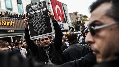 Kundgebung für Pressefreiheit in Ankara