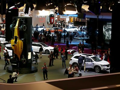 General view during media day at the Mondial de l'Automobile, the Paris auto show, in Paris, France, September 29, 2016. REUTERS/Jacky Naegelen