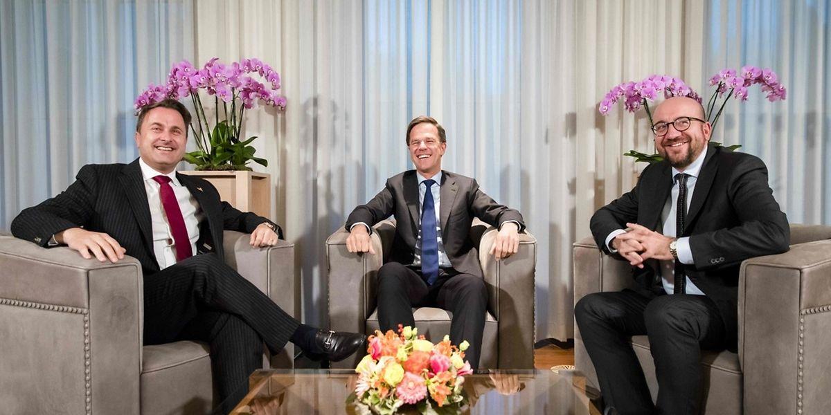 Liberale unter sich: die drei Premiers der Benelux-Staaten