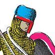 Ritter nutzten im Mittelalter Wappen auf ihren Schutzschildern.
