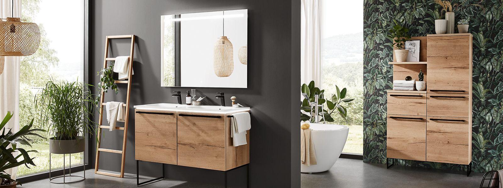 Mit Pflanzen wird das Bad zu einer optischen Wellness-Oase.