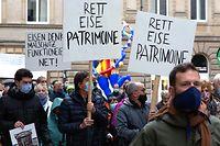 Lokales, Protestaktioun Patrimoine bâti et industriel, Foto: Chris Karaba/Luxemburger Wort