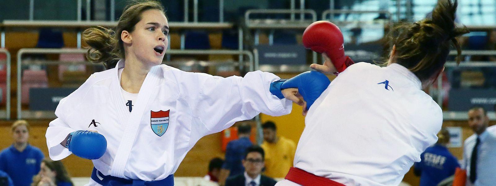Wehe wenn sie trifft: Karateka Jenny Warling gehört in ihrer Gewichtsklasse zur Weltelite.