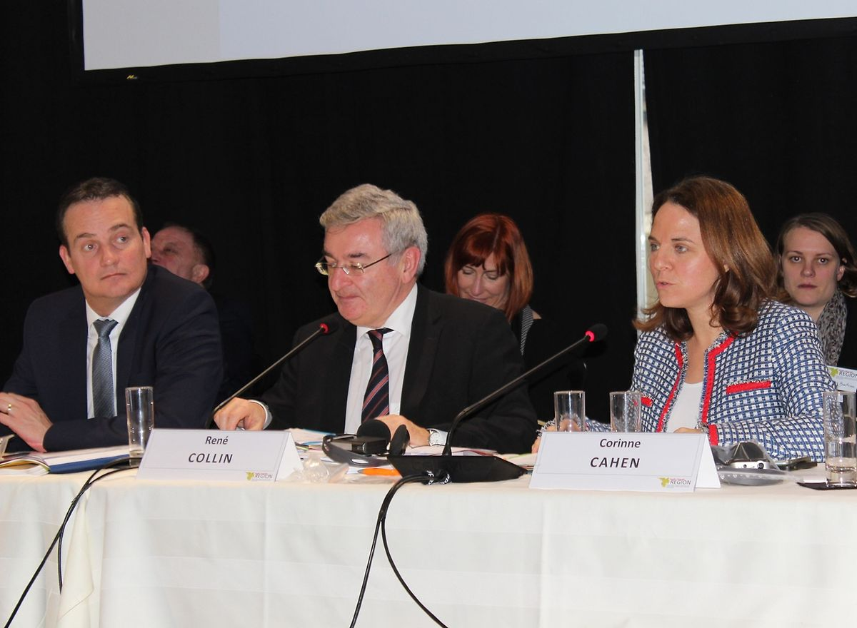 Le ministre wallon René Collin a passé la présidence de la Grande Région au Luxembourg, en la personne de la ministre Corinne Cahen.