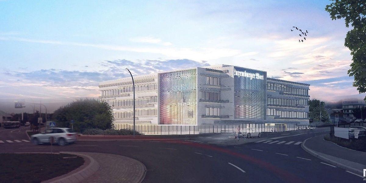 In dem von M3 Architectes auf einer Grundstücksfläche von 5676 m2 geplanten neuen Verlagshaus werden künftig über 300 Mitarbeiter arbeiten.