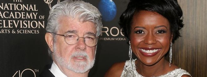 George Lucas et sa femme.