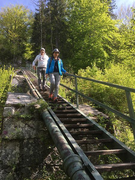 """Über 436 Stufen führt die """"Himmelsleiter"""" zu einem historischen Hochbehälter der einstigen Soleleitung."""