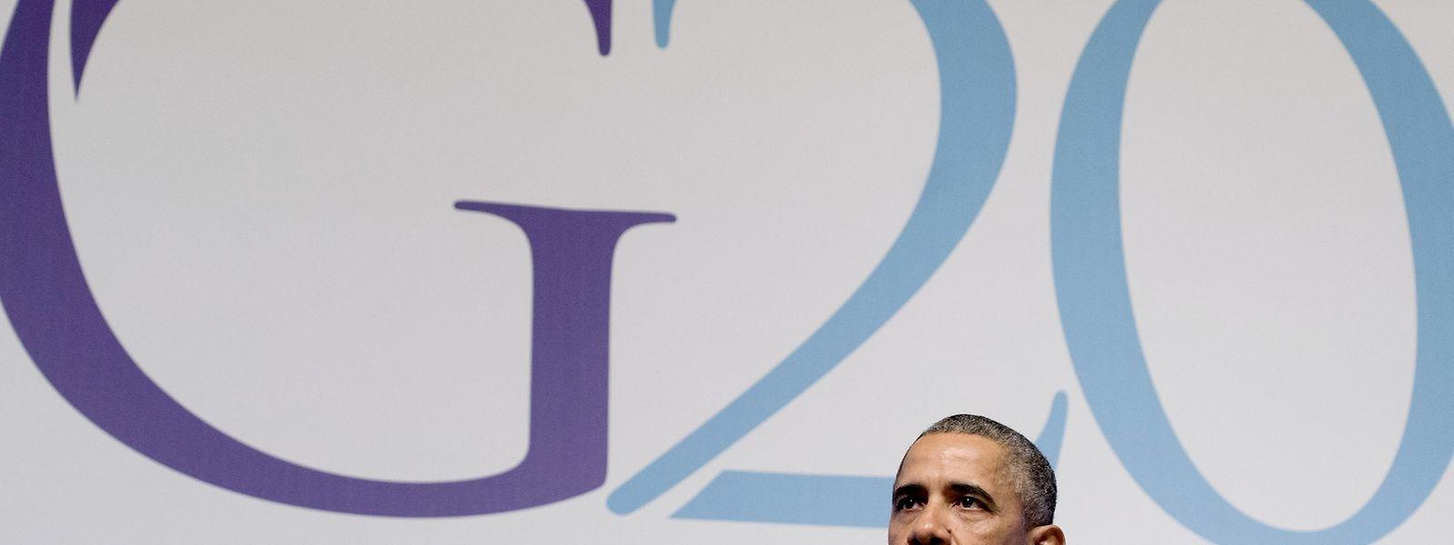 """""""Der Himmel hat sich verdunkelt durch die schrecklichen Angriffe, die in Paris stattfanden.""""  US-Präsident Barack Obama beim G20-Gipfel in Antalya."""