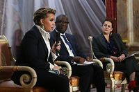 "PK Lancement officiel du forum international ""Stand Speak Rise UP!"" en présence de la Grande-Duchesse, DR. Denise Mukwege,Céline Bardet. Foto: Gerry Huberty/Luxemburger Wort"