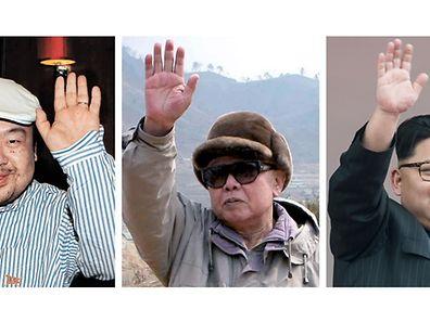 Kim Jog-Nam (l.) ist der älteste Sohn von Kim Jong-Il (M.) und der Halbbruder des aktuellen nordkoreanischen Diktators Kim Jong-Un.