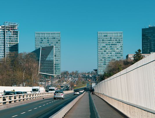 Luxembourg's business district on Kirchberg, where the European Court of Auditors is also based