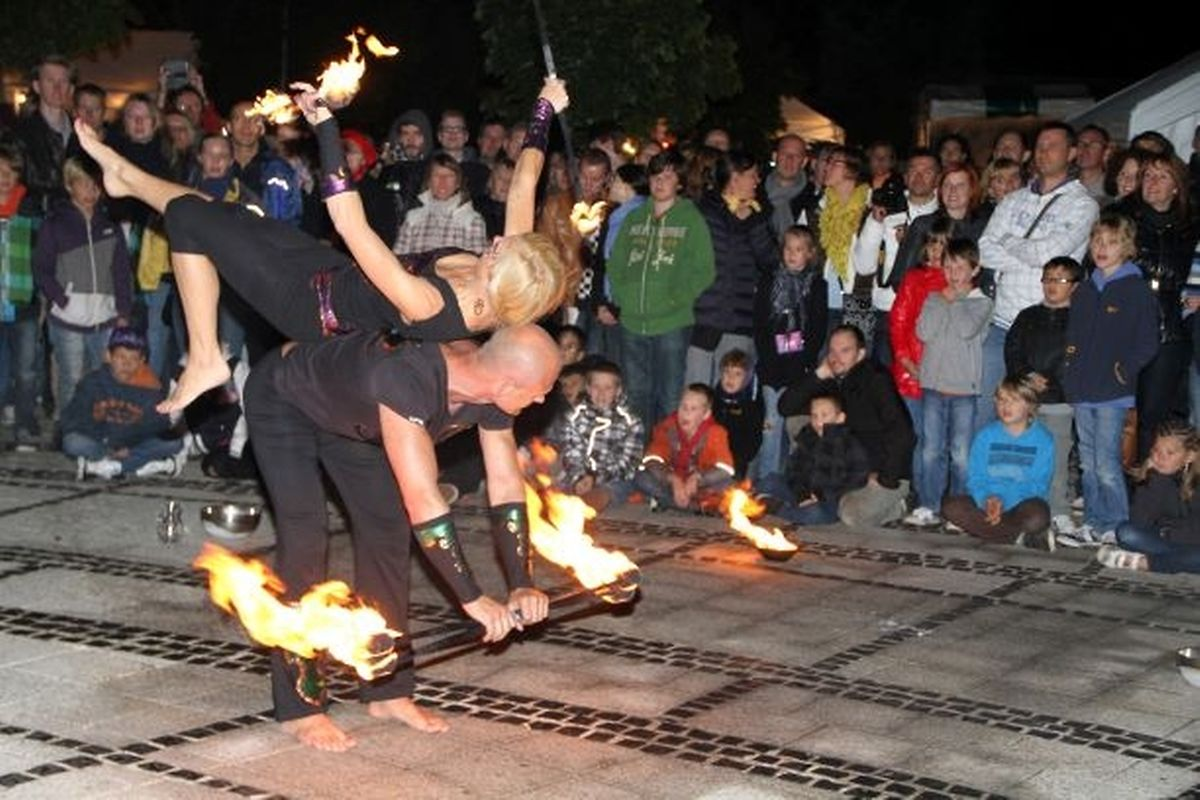 Stroossefestival, every other year, includes street theatre, live music and food stalls Photo: Charlot Kuhn