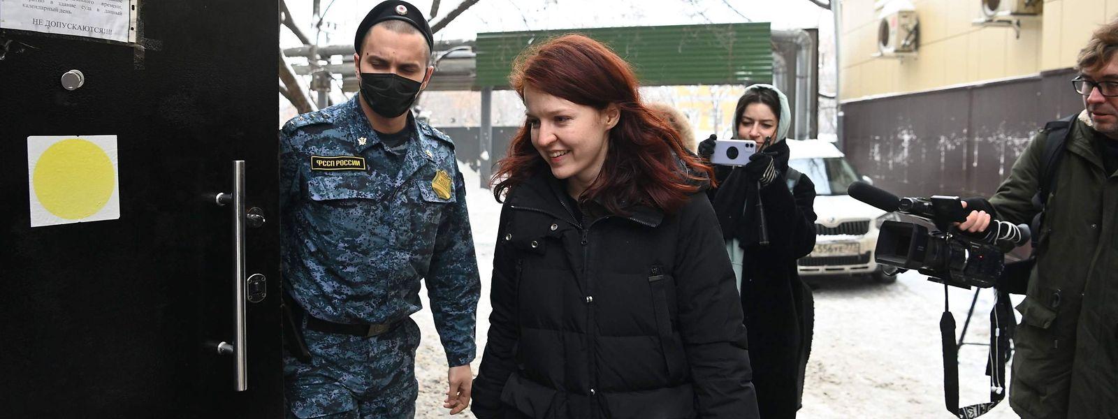 Kira Jarmysch musste am Freitag in Moskau vor Gericht erscheinen.