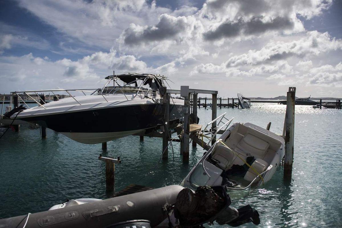 Auf Saint Martin richtete der Sturm großen Schaden an.