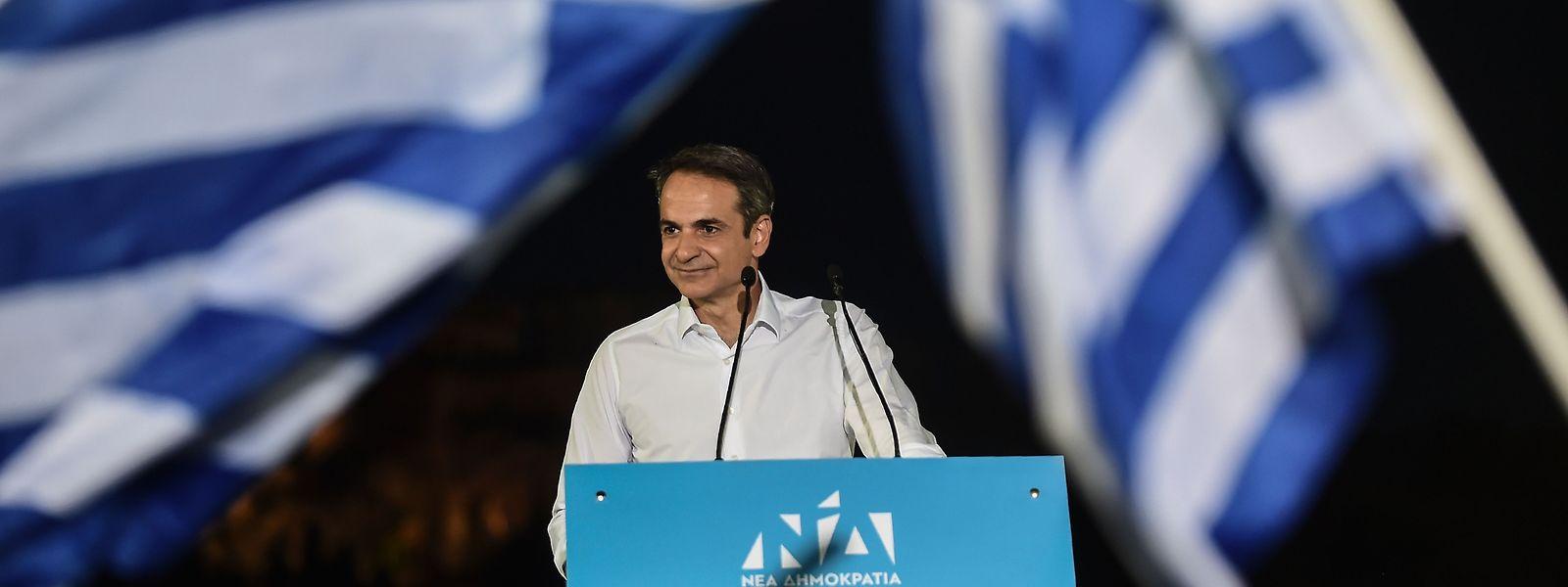 Der griechische Premier Kyriakos Mitsotakis ist beliebt beim Volk.