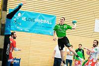 Jacques Tironzelli (HB Kaerjeng 21) / Handball, Nationale 1 Maenner, HB Kaerjeng - Berchem / Bascharage / 27.04.2019 / Foto: Christian Kemp