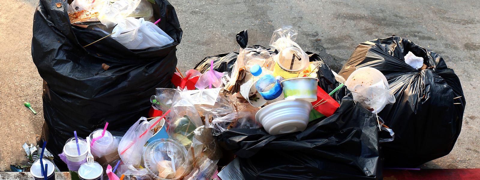 Ein Großteil des Plastikmülls landet hierzulande im Restmüll.