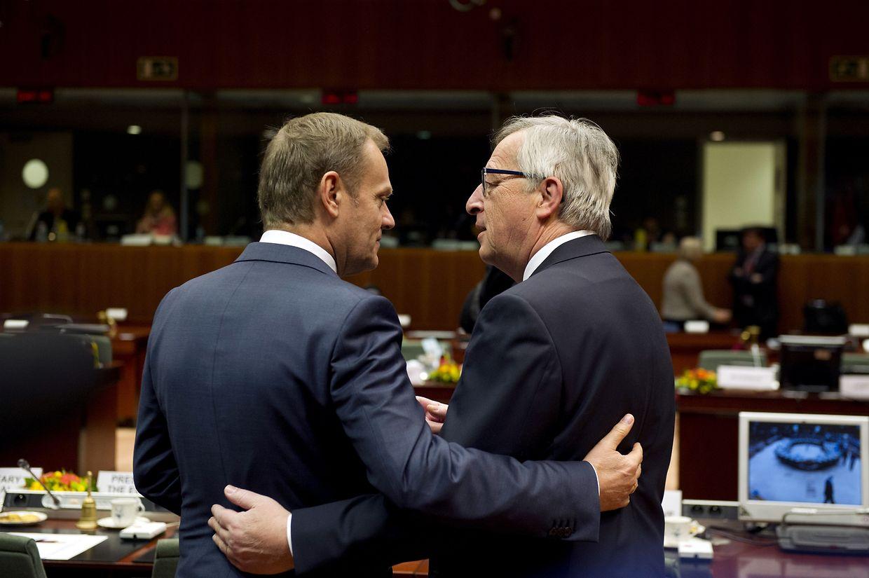Donald Tusk, le désormais ex-président du Conseil, et Jean-Claude Juncker vont laisser la place à leurs successeurs.