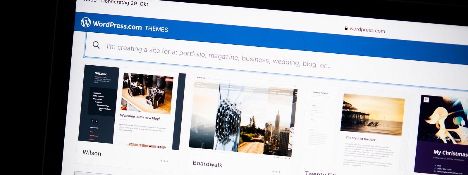 Für Wordpress gibt es zahllose kostenlose Themes.