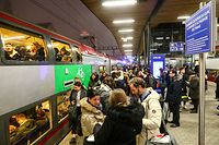 Auswirkungen durch Streik der französischen Zuggesellschaft.Gare de Luxembourg. Foto: Gerry Huberty/Luxemburger Wort