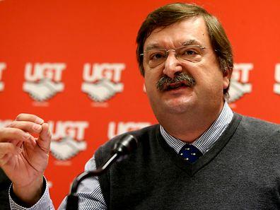 O secretário-geral da União Geral de Trabalhadores (UGT), Carlos Silva
