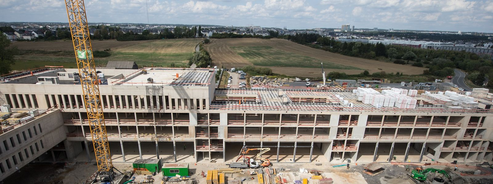Beim zukünftigen CNIS handelt es sich um die derzeit größte Baustelle der Hauptstadt.
