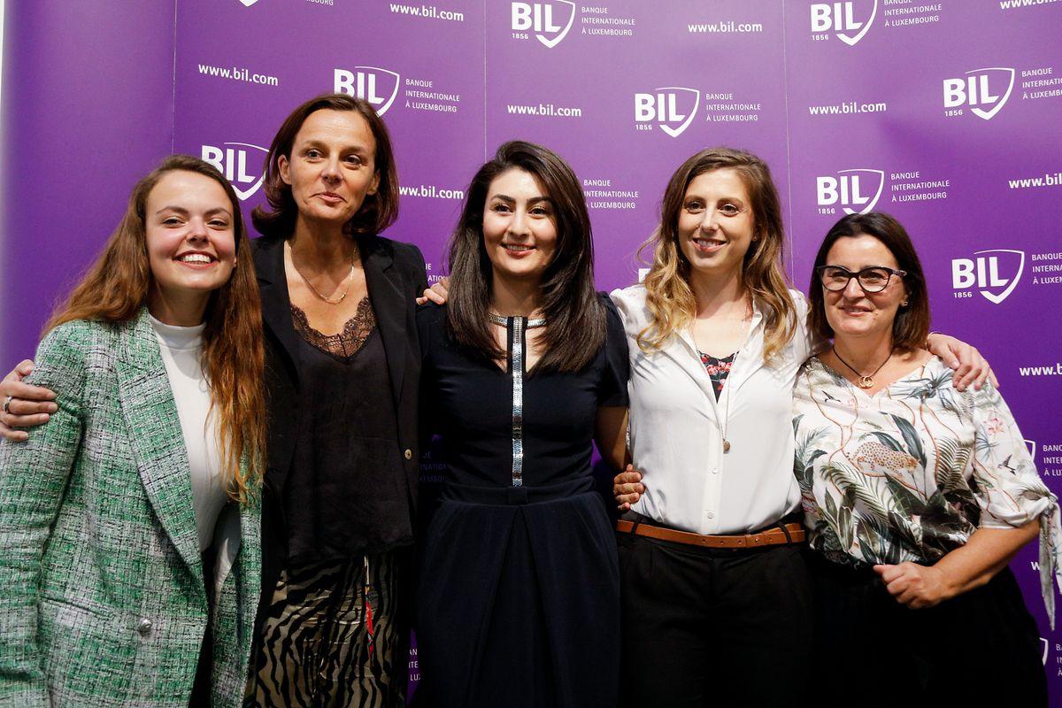 """Ilana Devillers, Stéphanie Jauquet, Aida Nazarikhorram, eLfy Pins, Karine Vallière  étaient les cinq candidates en lice au prix """"Business Woman of the Year 2019""""."""