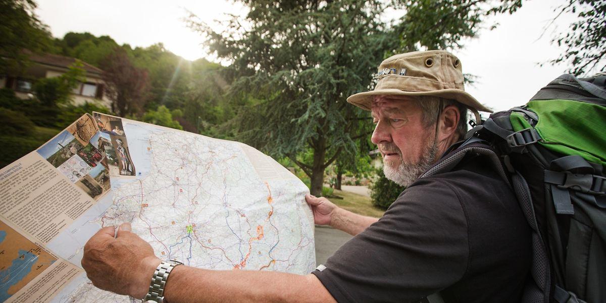 Für François Hurt waren die Wanderkarten und die Reiseführer wertvolle Wegbegleiter.
