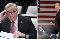 Nicht ganz einer Meinung: EU-Kommissionspräsident Jean-Claude Juncker (l.) und Donald Trump.