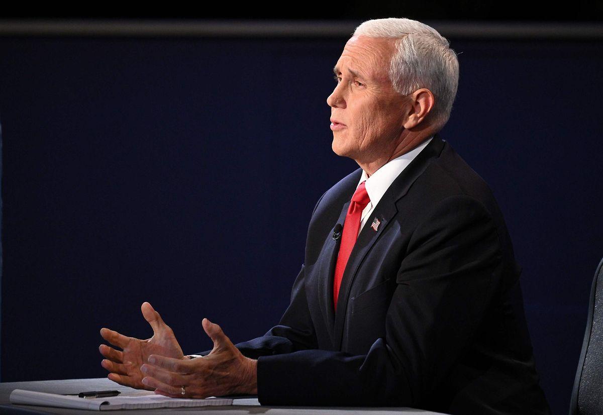 Vizepräsident Mike Pence ließ sich nicht aus der Ruhe bringen.