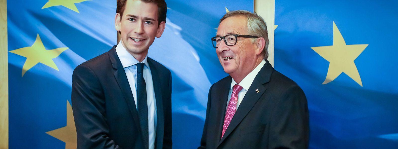 Juncker zeigte sich nach dem Treffen mit Sebastian Kurz überzeugt.