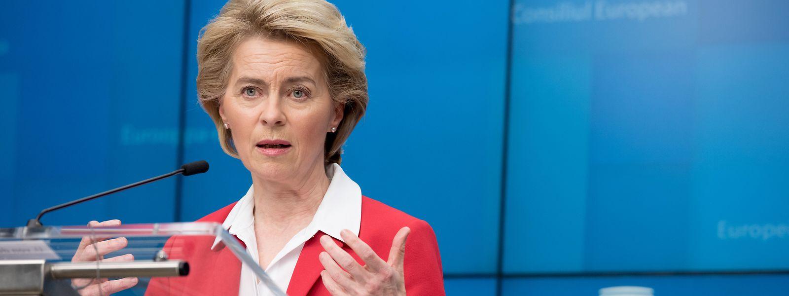 EU-Kommissionspräsidentin Ursula von der Leyen: Ihre Behörde will das ungarische Notstandsgesetz evaluieren.