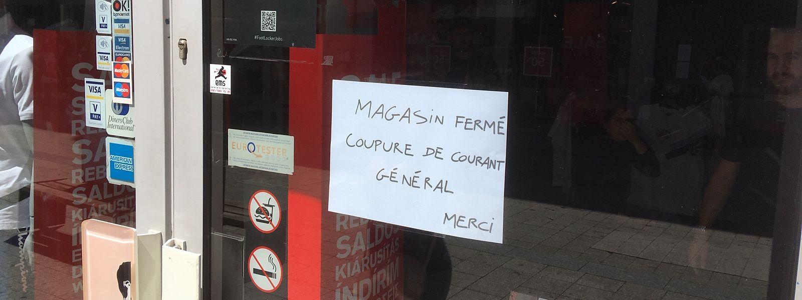 Mehrere Geschäfte in der Rue de l'Alzette beschlossen am Mittwoch, aufgrund der Strompanne kurzerhand zu schließen. Kurz vor 15 Uhr gingen die Lichter aber wieder an.