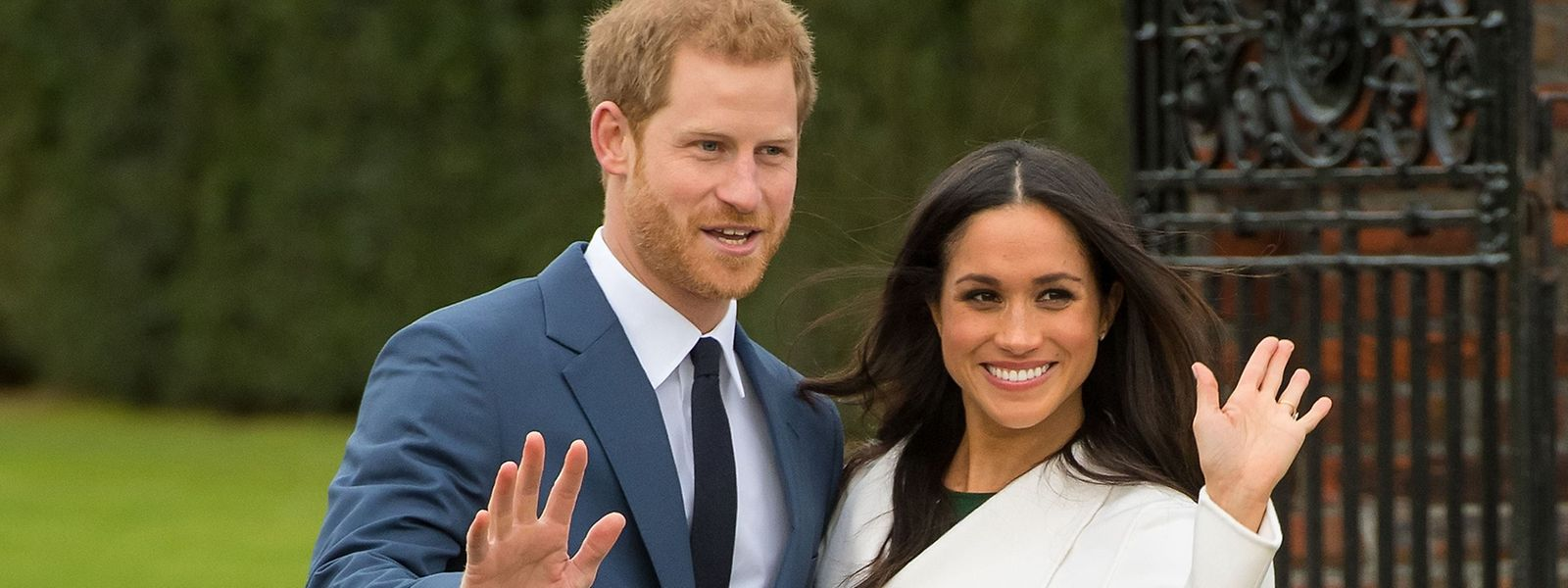 Prinz Harry und Herzogin Meghan nach Bekanntgabe ihrer Verlobung. Die beiden sind vor Kurzem zum zweiten Mal Eltern geworden.